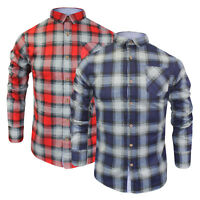 Mens Long Sleeve Shirt Brave Soul Garfield Brushed Cotton Check Lumberjack S-XL
