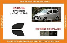 pellicola oscurante vetri dahiatsu yry 5p dal 2001-2004 kit anteriore