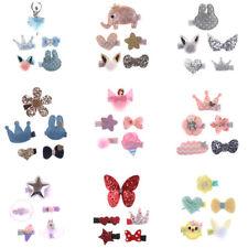 5x hechos a mano niñas niños bowknot pelo clips Barrette horquilla accesorios SE