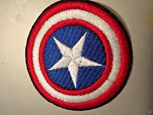 """Captain America Sheild Embroidered Iron/Sew ON Patch 2.75"""" in Diameter"""