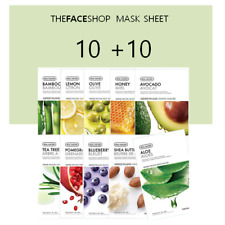 The Face Shop Mask Sheet 10+10 Real Nature Korean Cosmetics