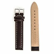 New Hirsch Brown Leather New Watch Strap With Buckle 18mm x 18mm