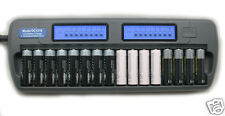 16 Slot 16 Bank DC1216 Fast LCD Battery Charger AA AAA NiMH NiCd 16 bay Refresh