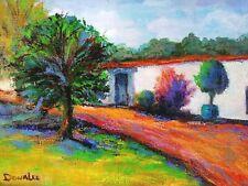 Original Oil Painting Landscape California Plein Air Spanish Casa Impressionism