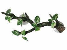 Sucker Mounted Branch with Silk Plants 35cm Aquarium Vivarium Decoration