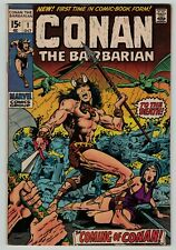 Conan the Barbarian 1 Barry Smith art Marvel Comics 1970 FN+ KEY classic Bronze