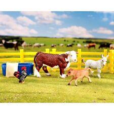 Breyer Stablemates Ranch Friends Farm Set  - Cow Donkey No.5366