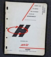 HUPP HERCULES JX SERIES 6-CYLINDER GASOLINE ENGINE PARTS LIST CATALOG MANUAL