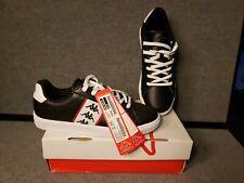 KAPPA Men Women Kourt Graffito Casual Shoes KJCL114N3 Sz. 9 - Black w White Sole