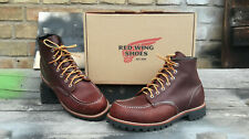 Red Wing Shoes 8146 MocToe Leder Boots braun Vibram Sohle USA Outdoor Reacher