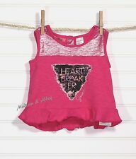 GUESS ~Toddler Girls ~ Pink Tee Top Shirt  ~ HEART BREAK ER ~ 12 Months ~ NWT