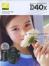 NIKON brochure pub. D40X édition 03/2007 en français