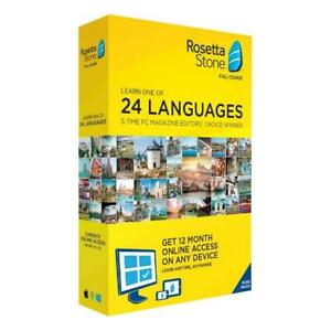 Rosetta Stone Learn Unlimited Languages 1 Year Online Access Full Course