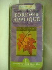 "Large Autumn Fall Porch Flag 28"" x 40"" FABULOUS FALL – Applique – NOS"