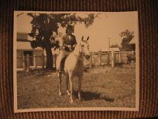 "Hall of Fame Arabian Horse ""Saki"" & Kathleen Tone up English Tack Vintage Photo"