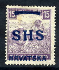 YUGOSLAVIA 1918 O'pt on Hungary 15f white figures, LHM / *