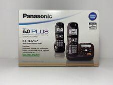 Panasonic KX-TG6592T DECT 6.0 Digital Cordless Phone/Answering System 2 Handsets