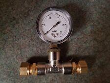 Natural gas kiln pressure gauge assembly
