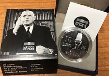 France 2015 Charles Gaulle 10 euro Silver -  Francia argent