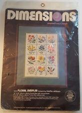DIMENSIONS Floral Sampler Counted Cross Stitch Kit 3532 Flowers SEALED Vintage
