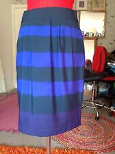 "New Marks & Spencers Portfolio skirt, size 6 petite, 23"" polyester, navy purple"