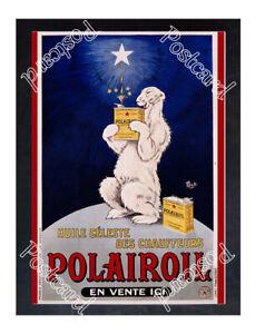 Historic Polairoil Oil Polar Bear Advertising Postcard