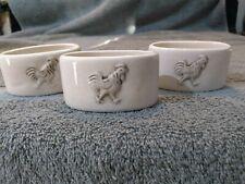 I Godinger & Co Rooster Napkin Rings 3 Ceramic or Porcelain Napkin Holders