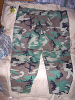 Mens 4X Bdu Pants Summer Bdus Hunting Camo Pants Cargo Bdu Woodland Camo Pants