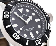 Nautica South Beach Jelly NSR 100 Men's 44mm Black Plastic Quartz Watch N09600G