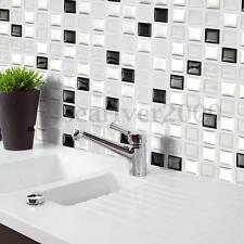 Modern 3D Brick Mosaic Tile Wallpaper Foil Sticker Bathroom Kitchen Home Decor