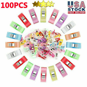 100PCS Colorful Sewing Clips Clamps Wonder Clips for Quilting Binding Knitting