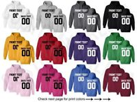 Customized Team Shirts Athletic Personalized JERSEY Name Number Text Hoodie S-5X