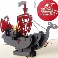 3D Pop Up Card Sea Rover Corsair Holiday Creative Baby Gift New Hot Cards