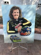 "Original Kyle Petty Acrylic Painting By Jeanne Barnes- ""The Tradition Continues"""