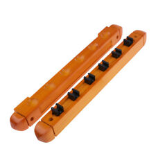 Wooden Snooker/ Pool Cue Rack Wall Mounted Hanging 6 Cue Sticks Holder Stand