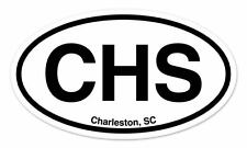 "CHS Charleston SC South Carolina Oval car window bumper sticker decal 5"" x 3"""