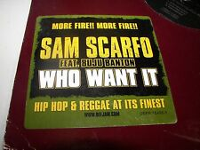 """Sam Scarfo Who What It 12"""" Single NM Def Jam DEFR16498-1 2006 2 copies"""