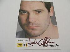 AYDEN CALLAGHAN Signed EMMERDALE Cast Card Photo Autograph Miles De Souza
