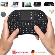 Mini Wireless Tastatur Keyboard Touchpad 2,4 GHz Touchpad Mouse iProtect QWERTZ