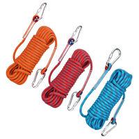 3Pcs/Set 10/15/20/30m 10mm 12KN Emergency Rappelling Rock Climbing Rope Strap