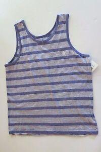 Volcom Big Boys Youth Sleeveless S Tank Top T-Shirt Tee Purple Stripe Effer NWT
