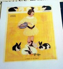 Feeding Rabbits Carrots 1911 Cover Life Magazine Reprint Coles Phillips Easter