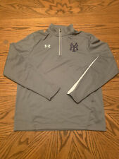 UNDER ARMOUR NEW YORK YANKEES TEAM ISSUED TRACK JACKET WARM UP MENS M LOOSE MLB