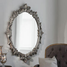 Antique Style Wooden Oval Decorative Mirrors
