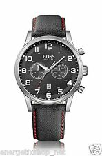 Hugo Boss Uhr Black Chronograph HB1512919 Herrenuhr Lederarmband NEU
