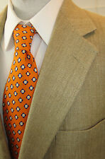 Robert Talbott For Nordstrom Woven Gentleman's Geometric Orange Neck Tie Dandy !