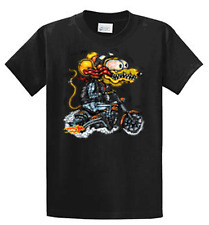Monster Rat Fink Biker Graphic Tees Mens Reguar and Big and Tall Sizes Port