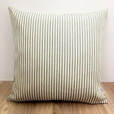 684. Handmade Grey Ticking Stripes 100% Cotton Cushion Cover Various sizes