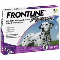 Frontline Plus Flea & Tick Treatment Control for Large Dog(45-88 lbs)-8 Doses