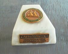 Atlas Consolidated Mining And Development Corp. Paperweight Carmen Project 1977